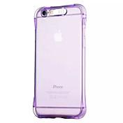 Etui Til Apple iPhone 6 iPhone 6 Plus Blinkende LED-lys Gjennomsiktig Bakdeksel Helfarge Myk TPU til iPhone 6s Plus iPhone 6s iPhone 6