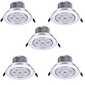 HRY 5pcs 7W 600 lm Ingen Innfelt lampe Innfelt retropassform 7 leds Høyeffekts-LED Varm hvit Kjølig hvit 85-265V