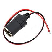 jtron bricolaje 12 ~ 24v cargador de encendedor de automóvil - (negro&rojo)