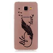 Para Funda Samsung Galaxy Carcasa Funda Transparente Diseños Cubierta Trasera Funda Pluma TPU para Samsung A5(2016) A3(2016)