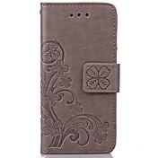 tilfelle for Apple iPhone x iPhone 8 iPhone 5 Case Cardholder lommebok med stativ flip preget full body tilfeller blomst hardt pu lær for