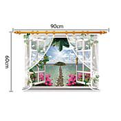 Landskap Romantik Mote Veggklistremerker 3D Mur Klistremerker Dekorative Mur Klistermærker Hjem Dekor Veggoverføringsbilde Vegg