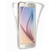 Etui Til Samsung Galaxy Samsung Galaxy S7 Edge Gjennomsiktig Heldekkende etui Helfarge TPU til S8 Plus S8 S7 edge S7 S6 edge plus S6 edge