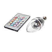 3W 450-700lm E14 Luces LED en Vela C35 1 Cuentas LED Control Remoto RGB 85-265V