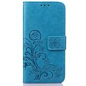 Para Funda Samsung Galaxy Soporte de Coche / Cartera / con Soporte / Flip / En Relieve Funda Cuerpo Entero Funda Flor Cuero Sintético