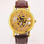 Hombre Reloj de Pulsera Reloj Casual Piel Banda Negro / Marrón / Gris