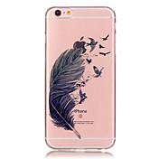 Etui Til Apple iPhone 6 Plus / iPhone 6 Gjennomsiktig Bakdeksel Fjær Myk TPU til iPhone 6s Plus / iPhone 6s / iPhone 6 Plus