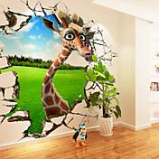 Animales / Caricatura Pegatinas de pared Calcomanías 3D para Pared,Canvas S M L XL XXL 3XL