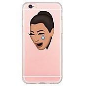 Funda Para Apple iPhone X / iPhone 8 / iPhone 6 Plus Ultrafina / Transparente / Diseños Funda Trasera Caricatura Suave TPU para iPhone X / iPhone 8 Plus / iPhone 8