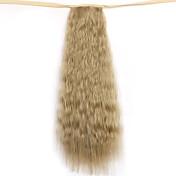lino longitud de 50 cm volumen peluca de la cola de caballo de maíz caliente de cola de caballo (color 16)