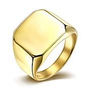 Herre Band Ring Sølv Gylden Titanium Stål Gullbelagt Mote Enkel Stil Julegaver Bryllup Fest Daglig Avslappet Kostyme smykker