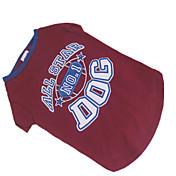 Hund Trøye/T-skjorte Hundeklær Rød/Blå Bomull Kostume For kjæledyr
