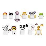 Dyr Veggklistremerker Animal Wall Stickers Klistermærker til kontakter, Vinyl Hjem Dekor Veggoverføringsbilde Vegg