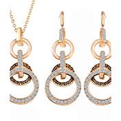 Conjunto de joyas De mujeres Aniversario / Boda / Pedida / Regalo Sets de Joya Aleación Sin piedra Collares / Pendientes Oro