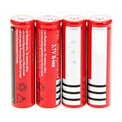 18650 batteri Oppladbart Lithium-ion Batteri 4200.0 mAh 4stk Oppladbar til Camping/Vandring/Grotte Udforskning