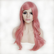 Pelucas sintéticas Ondulado Grande Mujer Sin Tapa Peluca de cosplay Pelo sintético