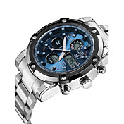 ASJ Hombre Cuarzo Digital Reloj digital Reloj de Pulsera Reloj Deportivo Japonés Cronógrafo Resistente al Agua Noctilucente Cronómetro