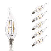 GMY® 200lm E12 Bombillas de Filamento LED B 2 Cuentas LED COB Regulable Decorativa Blanco Cálido 110-130V