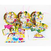 princesa 92pcs decoración decoraciones fiesta de cumpleaños de los niños evnent fuentes del partido del partido de Disney 12 personas usan