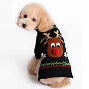고양이 강아지 스웨터 크리스마스 강아지 의류 크리스마스 새해 순록 블랙 레드 코스츔 애완 동물
