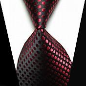 Clip de Corbata Moda joyería de disfraz Negro Rojo Tejido Hombre Pasador  -
