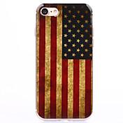 Funda Para Apple iPhone 8 iPhone 8 Plus iPhone 6 iPhone 7 Plus iPhone 7 Transparente Diseños Funda Trasera Bandera Suave TPU para iPhone