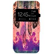 Etui Til iPhone 7 Plus iPhone 7 Apple iPhone 7 Plus iPhone 7 Kortholder med stativ med vindu Heldekkende etui Fjær Hard PU Leather til