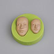 Herramientas de la torta de fondant del molde del silicón el mens joven dirige la torta que adorna moldes color al azar