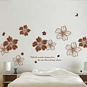 Still Life Romantik Botanisk Veggklistremerker Fly vægklistermærker 3D Mur Klistremerker Dekorative Mur Klistermærker, Vinyl Hjem Dekor