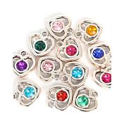 Corazón Diamante Sintético Colgantes / Encantos - Amor Color Aleatorio Colgante Para Enamorado
