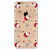 케이스 제품 Apple iPhone X iPhone 8 Plus iPhone 7 iPhone 6 아이폰5케이스 울트라 씬 패턴 뒷면 커버 크리스마스 소프트 TPU 용 iPhone X iPhone 8 Plus iPhone 8 아이폰 7 플러스