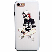 Para Funda iPhone 7 / Funda iPhone 7 Plus / Funda iPhone 6 Diseños Funda Cubierta Trasera Funda Chica Sexy Dura Policarbonato AppleiPhone