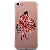 용 아이폰7케이스 아이폰7플러스 케이스 아이폰6케이스 투명 패턴 케이스 뒷면 커버 케이스 깃털 소프트 TPU 용 Apple 아이폰 7 플러스 아이폰 (7) iPhone 6s Plus iPhone 6 Plus iPhone 6s 아이폰 6