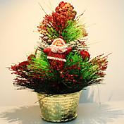 Mini árbol de navidad adornos de bolas de madera de pino