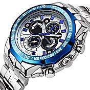 WWOOR Hombre Cuarzo Reloj de Pulsera / Reloj Deportivo Resistente al Agua / Punk / Cool / Noctilucente Acero Inoxidable Banda Lujo /