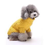 Gato Perro Suéteres Ropa para Perro Rayas Amarillo Rojo Fibra de acrílico Disfraz Para mascotas Hombre Mujer Casual/Diario Mantiene