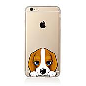 Etui Til Apple iPhone X iPhone 8 Plus Etui iPhone 5 iPhone 6 iPhone 7 Gjennomsiktig Mønster Bakdeksel Hund Myk TPU til iPhone X iPhone 8