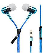 중립 제품 Zipper 이어폰 ( 인 이어)For미디어 플레이어/태블릿 / 모바일폰 / 컴퓨터With마이크 포함 / 볼륨 조절 / 소음제거