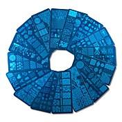 1pcs Utarbeidelse Verktøy og tilbehør / Maletilbehør / stempling Plate Mal Stilfull / Professjonell / Høy kvalitet Nail Art Design Stilig