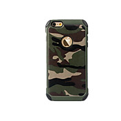 Funda Para Apple iPhone 8 iPhone 8 Plus iPhone 6 iPhone 7 Plus iPhone 7 Antigolpes Funda Trasera Color Camuflaje Dura ordenador personal