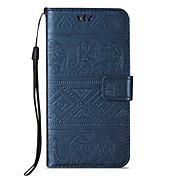 Etui Til Samsung Galaxy A5(2016) A3(2016) Kortholder Lommebok med stativ Flipp Inngravert Heldekkende etui Elefant Hard PU Leather til