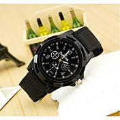 Hombre Cuarzo Reloj de Pulsera Reloj Militar Reloj Casual Tejido Banda Encanto Negro Azul Verde