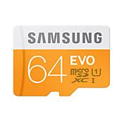 SAMSUNG 64GB Tarjeta TF tarjeta Micro SD tarjeta de memoria UHS-I U1 Clase 10 EVO