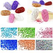 1000pcs Nail Art Decoración Las perlas de diamantes de imitación maquillaje cosmético Nail Art