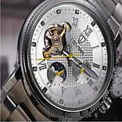 Tevise Hombre Mujer Pareja Reloj Deportivo Reloj Esqueleto Reloj de Moda El reloj mecánico Cuarzo Cuerda Automática Calendario Resistente