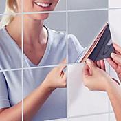 Spejle Veggklistremerker Veggklistremerker i Speilstil Dekorative Mur Klistermærker Hjem Dekor Veggoverføringsbilde Vegg