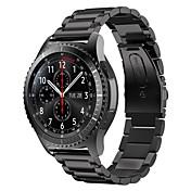 de acero inoxidable de la sustitución del metal pulsera de la correa de reloj inteligente para samsung s3 engranajes frontera clásica