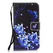 Etui Til Samsung Galaxy S8 Plus / S8 Lommebok / Kortholder / med stativ Bakdeksel Blomsternål i krystall Hard PU Leather til S8 Plus / S8 / S7 edge