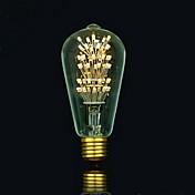 1pc 3 E27 E26/E27 E26 B22 ST64 Blanco Cálido 2300 K Bombillas de Filamento LED 220 V 85-265V