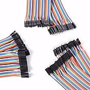 universal masculino a macho / macho a hembra / hembra para cables DuPont femeninos fijados para arduino